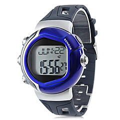 Unisex pulsmätare Calorie Counter Style Gummi Digital Automatic Wrist Watch (blandade färger)