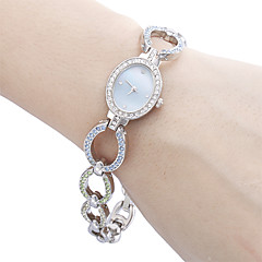 Alliage analogique Montre-bracelet à quartz pour femmes (Multi-couleur)