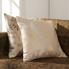Set of 2 Elegant Jacquard Polyester Decorative Pillow Cover