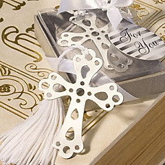 Cross Shaped Stainless Steel Bookmark