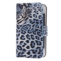Tiger Pattern Twill PU Full Body Case for iPhone 4/4S (valinnainen värit)