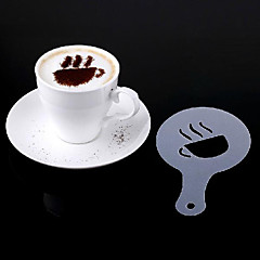 Coffee Stencils Latte Art Cappuccino Plastic Plate Template Sets