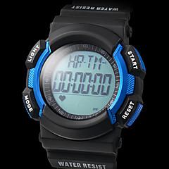 unisex monitor de frecuencia multifuncional negro goma reloj digital de corazón con podómetro (varios colores)