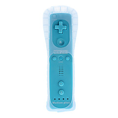 Right-Handed Gaming Controller with Built-in Accelerator for Wii U (Blue)
