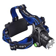 פנס LED / אורות קדמיים LED 3 מצב 1000 Lumens Cree XM-L T6 18650 מחנאות/צעידות/טיולי מערות / שימוש יומיומי / רכיבה על אופניים / ציד - אחרים