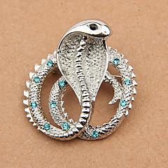 모조 다이아몬드 뱀 브로치 (무작위 색깔)