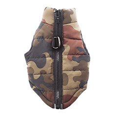 Camouflage Style Cotton-Padded Vest for Pets Dogs (Assorted Sizes)