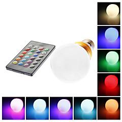 E26/E27 5 W 1 LM RGB G60 Remote-Controlled Globe Bulbs AC 85-265 V