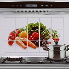 75x45cm vihannekset kuvio öljynkestäviä vesitiivis kuuma kestävä keittiö seinä tarra