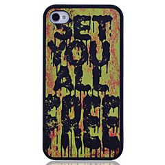Word Printing Back Case for iPhone 4/4S