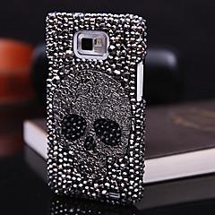 Skull Full Zircon Back Case för Samsung Galaxy S2 I9100