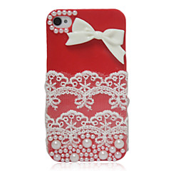 Bowknot Lace Back Case for iPhone 4/4S