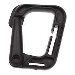 Multi-uso Vuoto-fuori anello a D D Shape fibbia in plastica per attività all'aperto (colore casuale)