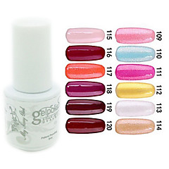 YeManNvYou®Sequins UV Color Gel Nail Polish No.109-120 (5ml, Assorted Colors)