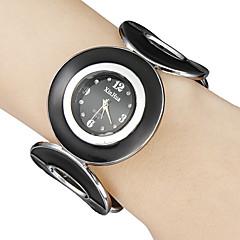 Dames Kwarts Band Bangle armband Zwart Merk-