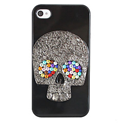 Skull Hallowmas Back Case for iPhone 4/4S(Random Color)