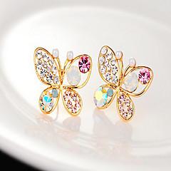 Κουμπωτά Σκουλαρίκια Μαργαριτάρι Στρας Κράμα Χρυσαφί Κοσμήματα Πάρτι Καθημερινά