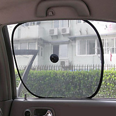 Car Window Sun Shade (2-Piece, Black)