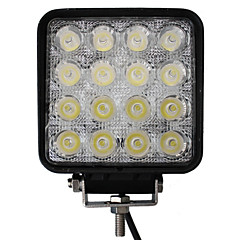 48W 16 LED'er Square Work Light