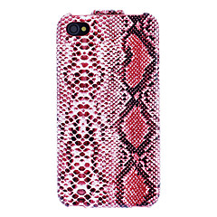 Snake Skin Texture Flip Designed PU Full Body Case for iPhone 4/4S (Optional Colors)