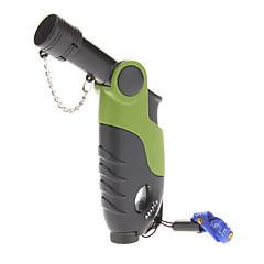 ABS winddicht Gasfeuerzeug mit beweglicher Rope (zufällige Farbe)