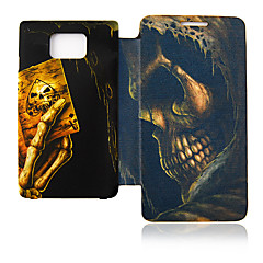 Schedel Poker Leather Case voor Samsung Galaxy S2 I9100