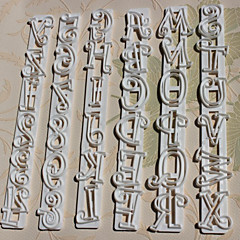Αριθμοί 6pcs/set + Γράμματα Cake Κόφτες Mold Shape