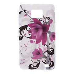 Wisteria blommönster TPU Soft Back Cover Case för Samsung Galaxy S2 I9100