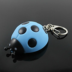 Beetle pendentif en forme anneau porte-clés avec la lumière et la voix LED (couleur aléatoire)