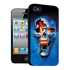 Skull Pattern 3D Effect Case for iPhone4/4S