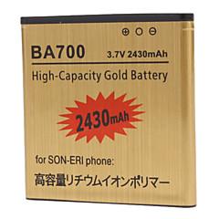 ba700 סוללה בטלפון נייד 2430mah עבור Sony ba700