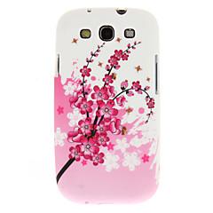 Samsung Galaxy S3 i9300 için pembe Plum Blossom Desen Yumuşak Plastik Geri Case Kapak