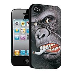 Orangutans Pattern 3D Effect Case for iPhone4/4S