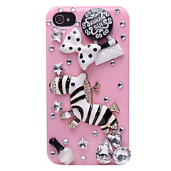 Zebra Jewelry Covered Back Case for iPhone 4/4S