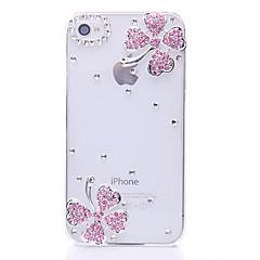 Neljä lehtipuumetsien Clover Pattern Metal korut takakannen iPhone 4/4S