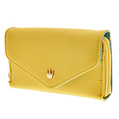 Women'S Multi Propose Envelope Wallet Purse for iPhone And Samsung(Assorted Color)