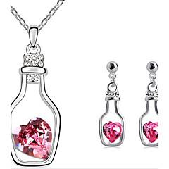 flaske øreringe& halskæde smykker sæt