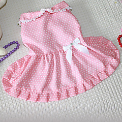 Punto de la manera Imprimir Bowknot decorado Princess Dress For Pets Dogs (diferentes tamaños)
