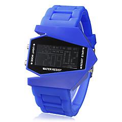 Unisex Jet Aircraft LED Digital Dial banda reloj de pulsera de silicona (varios colores)