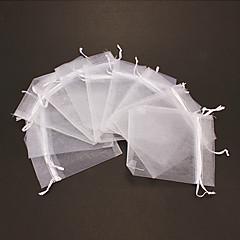 (10 piezas) blanca clásica granadina Bolsos de la joyería para la joyería