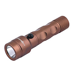 Sirius Eye Genopladeligt 3-Mode Cree XP-E Q5 LED lommelygte (240LM, 1x18650, Sort / Brun)