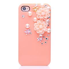 Pearl kukkakuvio Metal korut takakannen iPhone 4/4S