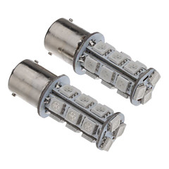 2Pcs 1156 18x5050SMD 60-100LM Yellow Light LED Bulb for Car (12V)