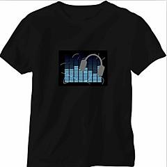 Som substituição e música activado espectro VU Medidor EL Visualizer (não incluído T-shrit)
