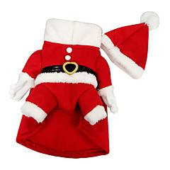 Cães Fantasias / Casacos Vermelho Inverno Natal Fantasias / Natal / Dia Das Bruxas
