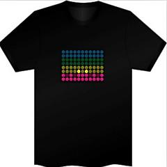 Vervanging geluid en muziek geactiveerd Spectrum VU-meter EL Visualizer (Niet meegeleverd T-shrit)