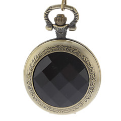 Men's Black Crystal Cover Vintage Alloy Quartz Analog Pocket Watch with Chain Cool Watch Unique Watch