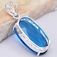 Silver Pendant Necklaces Wedding / Party Jewelry