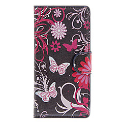 Mert LG tok Pénztárca / Kártyatartó / Állvánnyal / Flip Case Teljes védelem Case Pillangó Kemény Műbőr LG LG G26
