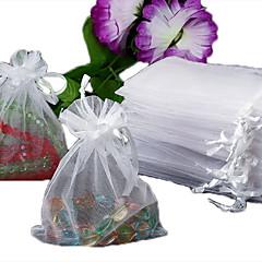 50PCS 오간자 돈주머니 선물 보석 가방 파우치 흰색보기